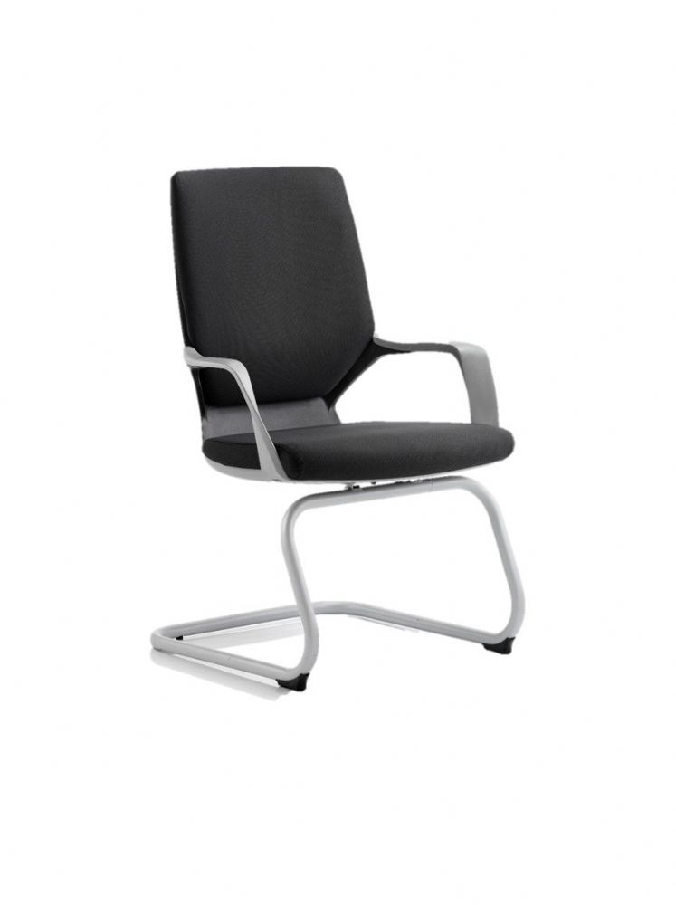 Xenon Integral Contoured Lumbar Support Visitors Chair Grey Frame Black Shell Choice of Colours